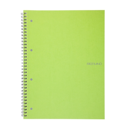 Picture of Fabriano Notebook, A4,  lined, offset paper, with metal spiral, soft covers, 70 sheets, light green