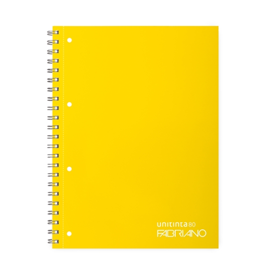 Picture of Fabriano Unitinta Notebook, A4,  lined, offset paper, with metal spiral, soft covers, 120 sheets, assorted colours