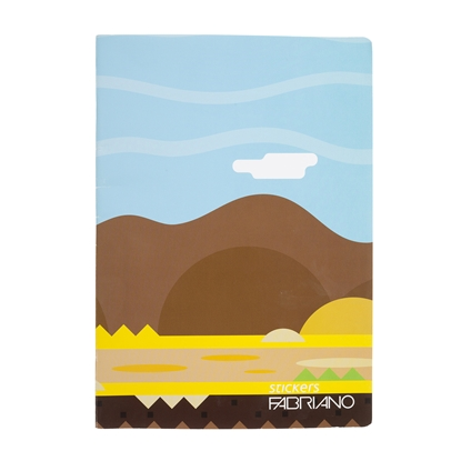 Picture of Fabriano notebook Stickers, A4, wide lines, offset paper, soft cover, 40 sheets