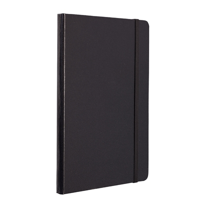 Picture of TOPS Attendant Notebook, A5, with elastic strap, offset paper, 80 sheets, black
