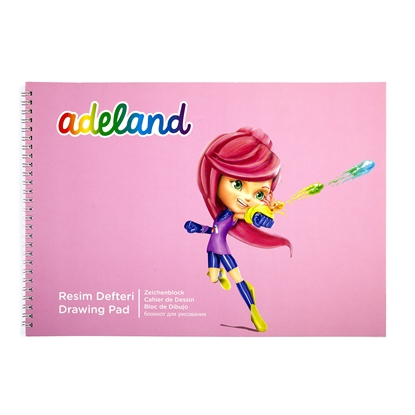 Picture of Adeland sketchbook for painting, 25 x 35 cm, 100 g/m2, spiral, cardboard cover, 15 sheets