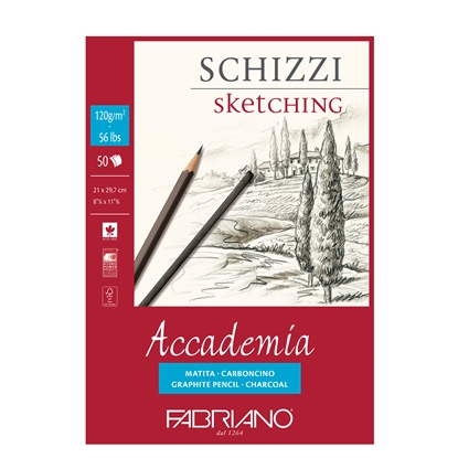 Picture of Fabriano sketchbook for painting Accademia, A4, 120 g/m2, grained structure, glued, 50 sheets