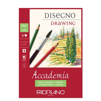Picture of Fabriano sketchbook for painting Accademia, A4, 120 g/m2, grained structure, spiral, 50 sheets