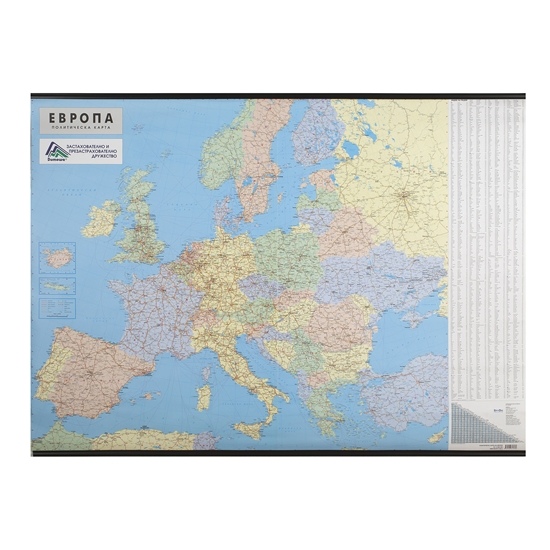 Picture of Political Wall Map of Europe, 140 x 100 cm, laminated, scale 1:3 500 000