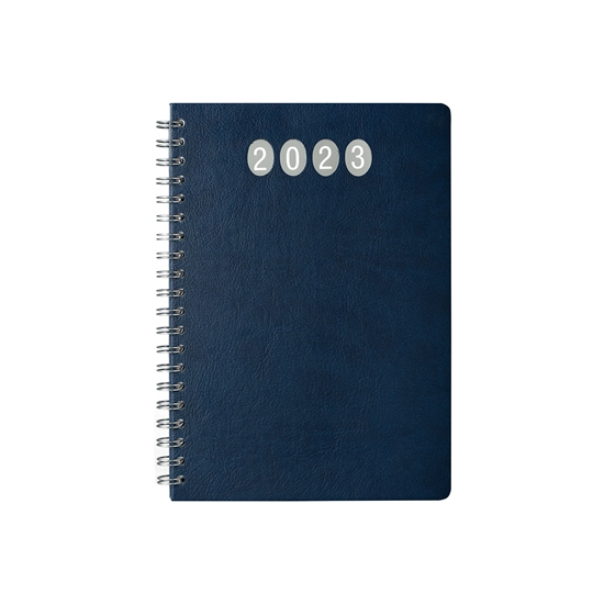 Picture of Calendar-Notepad elite, weekpaper, 19 x 27 cm, blue