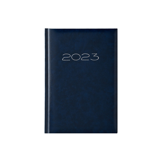 Picture of Calendar-Notepad victoria, without dates , A5, hard binding, blue