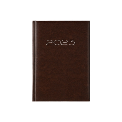 Picture of Calendar-Notepad victoria, without dates , A5, hard binding, brown