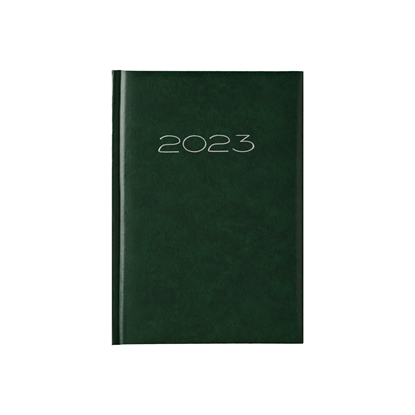 Picture of Calendar-Notepad victoria, without dates , A5, hard binding, green