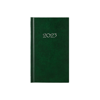 Picture of Calendar-Notepad slim, weekpaper, 9 x 16 cm, green