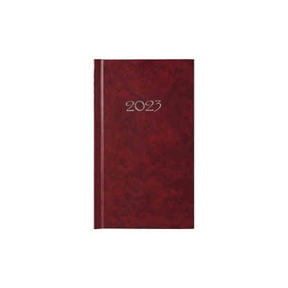 Picture of Calendar-Notepad slim, weekpaper, 9 x 16 cm, bordeaux