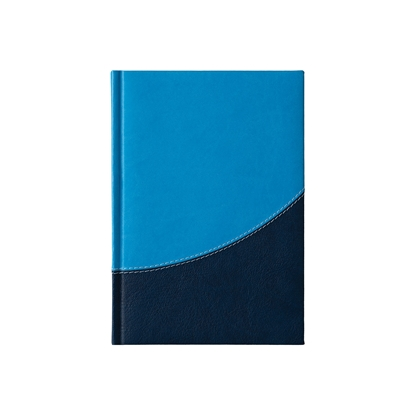 Picture of Calendar-Notepad Prestige, with dates , А5, lightblue/darkblue