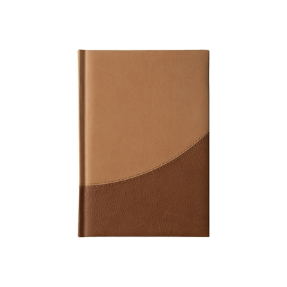 Picture of Calendar-Notepad Prestige, with dates , А5, lightbrown/darkbrown