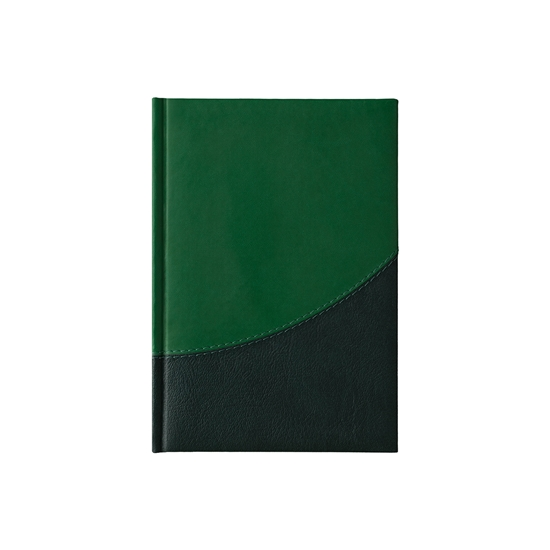 Picture of Calendar-Notepad Prestige, with dates , А5, green/darkgreen