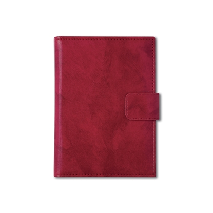 Picture of Calendar-Notepad Niagara, with dates, A5, leather binding, red