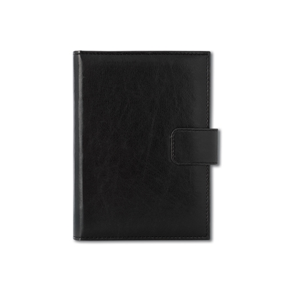 Picture of Calendar-Notepad Niagara, with dates, A5, leather binding, black