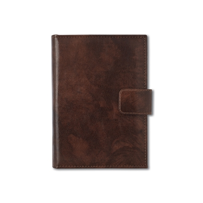 Picture of Calendar-Notepad Niagara, with dates, A5, leather binding, brown