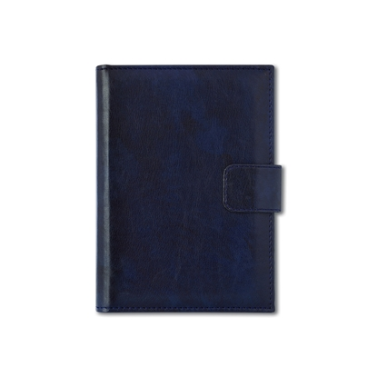 Picture of Calendar-Notepad Niagara, with dates, A5, leather binding, blue