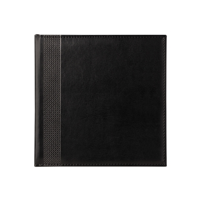Picture of Calendar-Notepad К2, without dates , 20 x 20 cm, leather binding, black