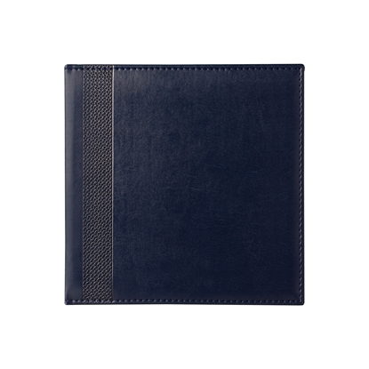 Picture of Calendar-Notepad К2, without dates , 20 x 20 cm, leather binding, blue