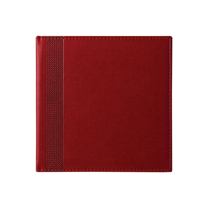 Picture of Calendar-Notepad К2, without dates , 20 x 20 cm, leather binding, bordeaux