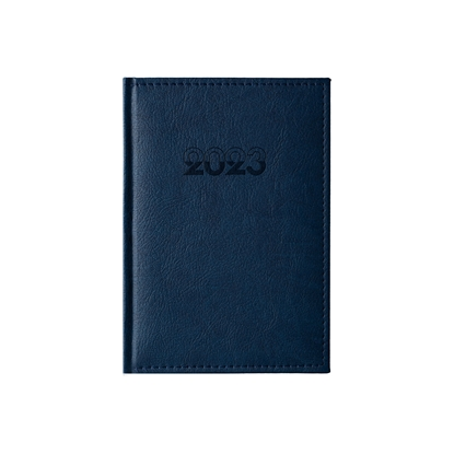 Picture of Calendar-Notepad Europe, with dates, A5, leather binding, blue