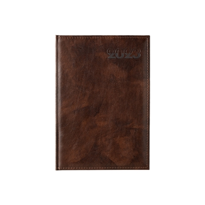 Picture of Calendar-Notepad diplomat, with dates , A4, brown