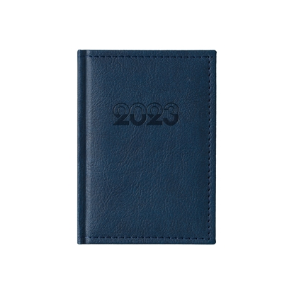 Picture of Calendar-Notepad Casanova, with dates , 10 x 15 cm, leather binding, blue