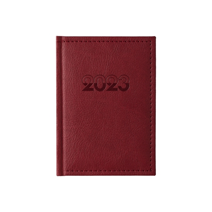 Picture of Calendar-Notepad Casanova, with dates , 10 x 15 cm, leather binding, bordeaux