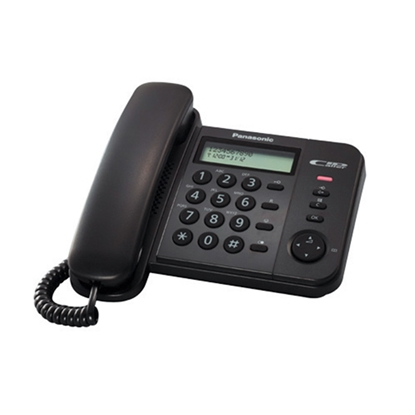 Picture of Panasonic KX-TS560 Desktop telephone with cord, black