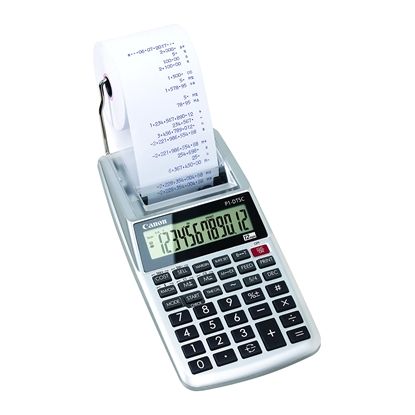 Picture of Canon Printing calculator P1, with tape, portable, 12-class, two-color stamp