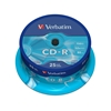 Picture of Verbatim CD-R, 700 MB, 52x, Extra protection, spindle pack, 25 pcs.