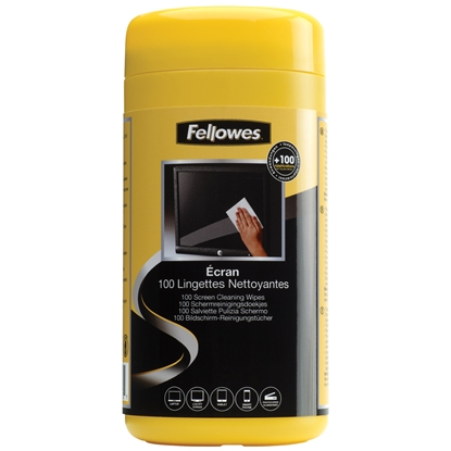 Picture of Fellowes Screen Cleaning Wipes, antistatic, 100 pcs. in a tub