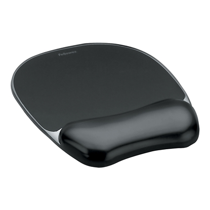 Picture of Fellowes Gel Mouse Pad with Silicone Wrist Rest, black
