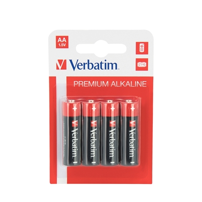 Picture of Verbatim Alkaline Battery, AA, LR6, 1.5 V, 4 pcs.