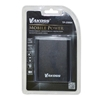 Picture of Vakoss External Battery, 10 400 mAh, 2.1 A, with 2 USB ports, aluminium case, black