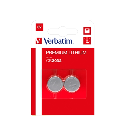 Picture of Verbatim Lithium Battery, CR2032, 3V, 2 pcs.