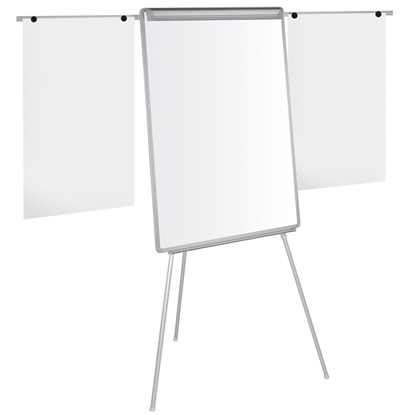 Picture of Bi-Office Flipchart 70 x 100 cm, magnetic, with shoulders