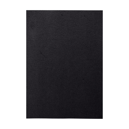 Picture of Top Office Binding Covers, cardboard, A4, leather design,  210 g/m2 black, 10 pcs.