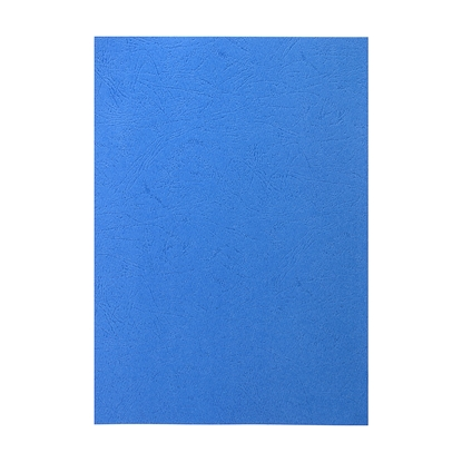 Picture of Top Office Binding Covers, cardboard, A4, leather design,  210 g/m2 blue, 10 pcs.
