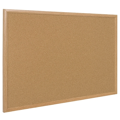 Picture of Bi-Office Corkboard with pine frame, 90 x 120 cm