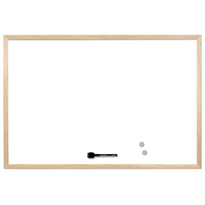 Picture of Bi-Office Magnetic Whitekboard with pine frame, 40 x 60 cm