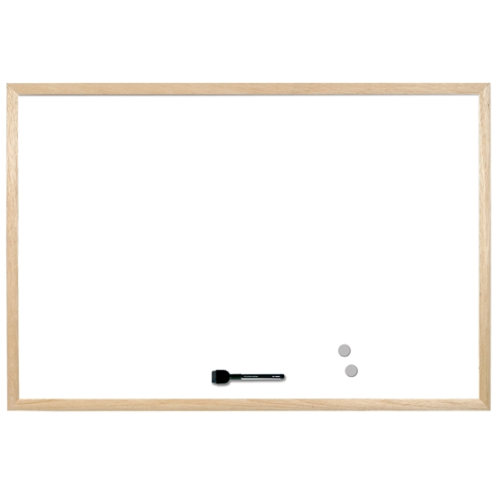 Picture of Bi-Office Magnetic Whitekboard with pine frame, 60 x 90 cm