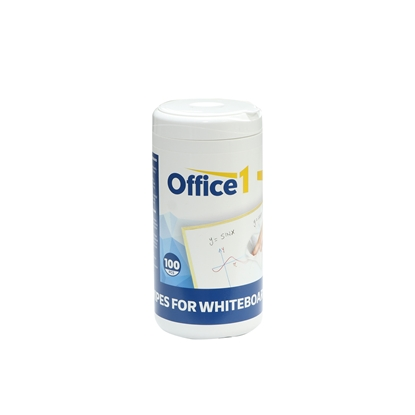 Picture of Office 1 Superstore Wet Wipes for Whiteboard Cleaning, 100 pcs. in a tub