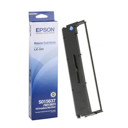 Picture of Epson Tape Black LX-300+/LX-350/FX 880, C13S015637, 3 million characters