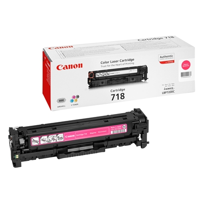 Picture of Toner Canon CRG718, 2900 pages/5%, Magenta