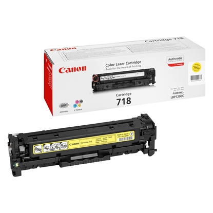 Picture of Toner Canon CRG718, 2900 pages/5%, Yellow