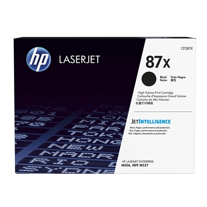Picture of HP Toner CF287X, 18000 pages/5%, Black