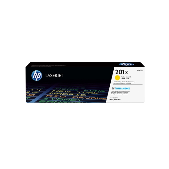 Picture of HP Toner CF402X, 201X, 2300 pages/5%, Yellow
