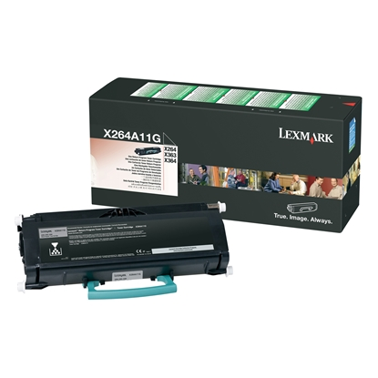 Picture of Lexmark Toner X264A11G, X264/X363/X364, 3500 pages/5%, Black