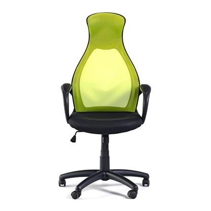 Picture of Mistik Green Office Chair, mesh and upholstery, green and black
